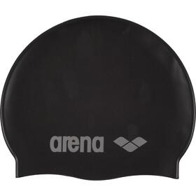 arena Classic Silicone Bonnet de bain Enfant, black-silver